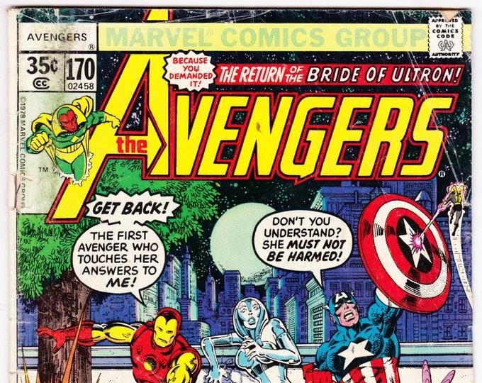 Avengers #170 (1st Series 1963) April 1978  Marvel Comics   Grade G