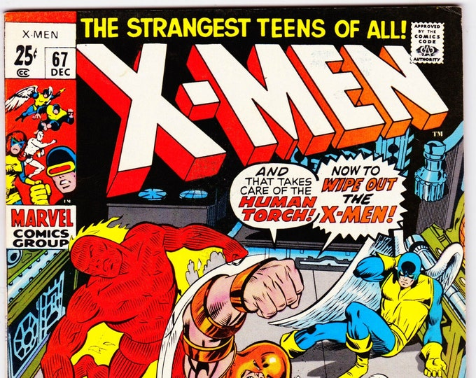 Featured listing image: Uncanny X-Men #67 (1963 1st Series) April 1970  Marvel Comics Grade F/VF