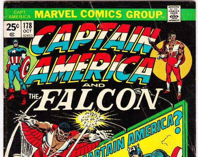 Captain America #178 (1st Series 1968) October 1974    Marvel Comics   Grade VG