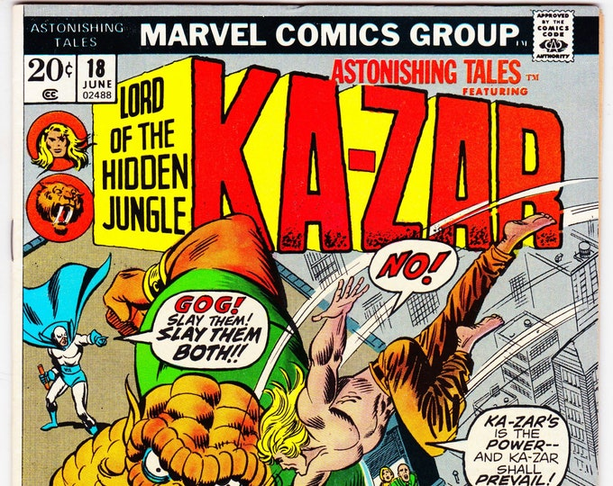 Astonishing Tales #18 (1st Series 1970) June 1973    Marvel Comics  Grade NM
