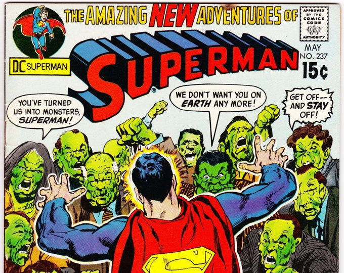 Superman #237   May 1971   DC Comics   Grade VF