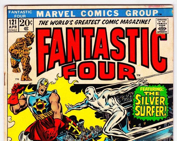 Fantastic Four  #121 (1st Series 1961) April 1972  Marvel Comics  Grade Fine