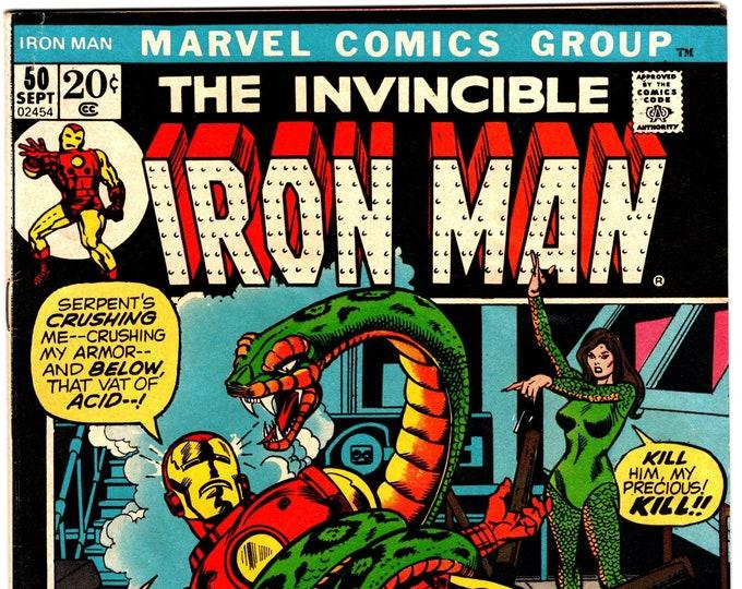 Iron Man #50 (1st Series 1968) September 1972   Marvel Comics  Grade F/VF