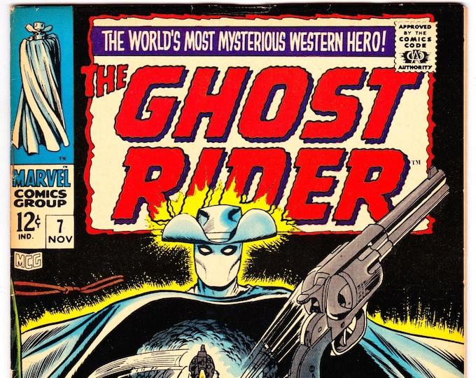 Ghost Rider #7 (Marvel Western 1967) November 1967  Marvel Comics Grade VF-