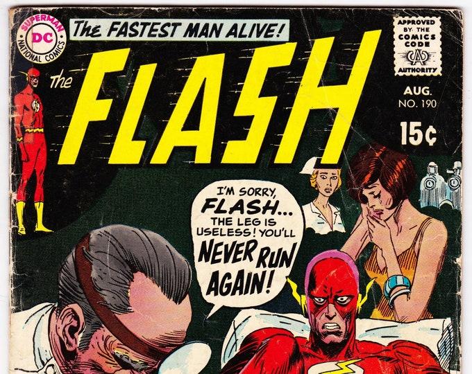 Flash #190 (1st Series 1959) August 1969   Marvel Comics   Grade G/VG