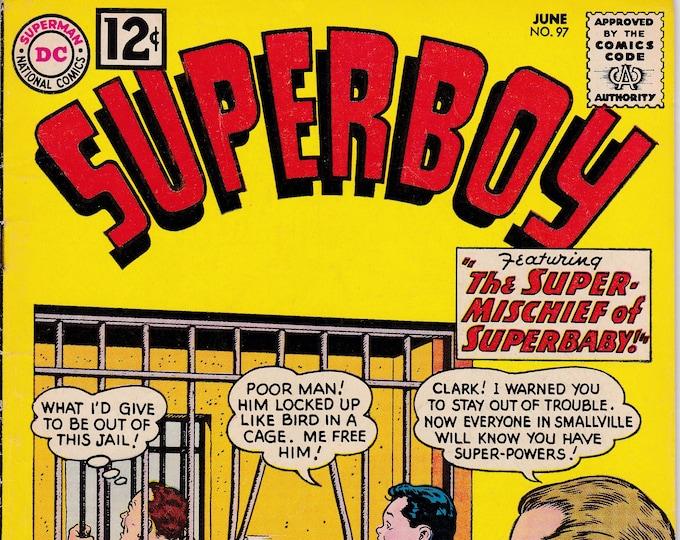 Superboy #97 (1949 1st Series)  June 1962  DC Comics  Grade Fine