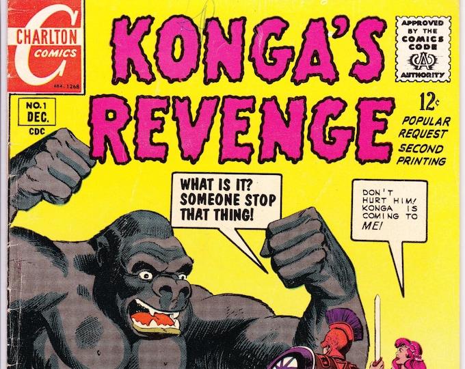Konga's Revenge #1   December 1968    Charlton Comics Group  Grade Fine+