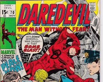 Daredevil #70 (1964 1st Series)  November 1970  Marvel Comics Grade VF