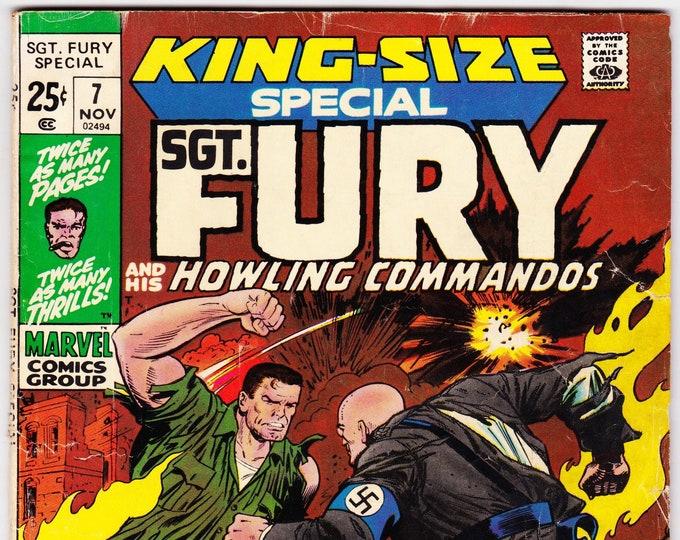Sgt. Fury  Annual #7 (1st Series 1963) November 1971  Marvel Comics    Grade VG/F