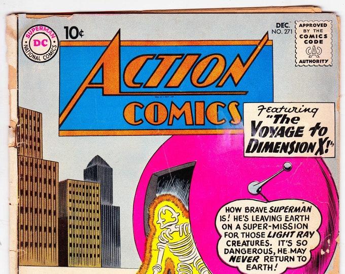 Action Comics #271 (1st Series 1938) December 1960   DC Comics   Grade G