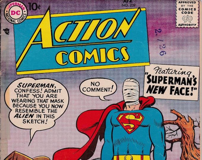Action Comics #239 (1938 DC) April 1958    DC Comics    Grade Fine