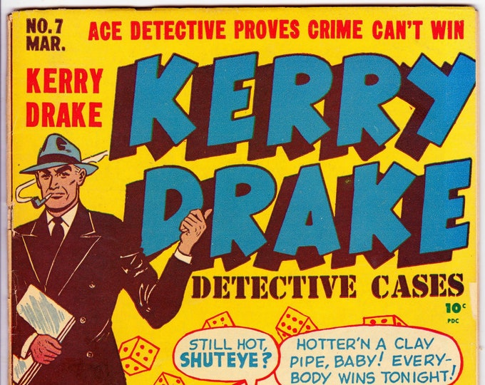 Kerry Drake Detective Cases #7 (1st Series 1944) March 1948  Harvey Publishing  Grade G/VG