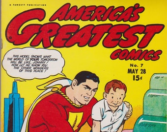 Flashback 32: America's Greatest Comics #7 (1943/1974) Dynapubs 1974 Grade Fine