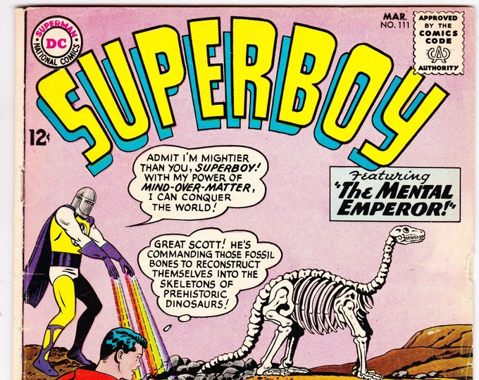 Superboy #111 (1st Series 1949-1979) March 1964  DC Comics  Grade VG-