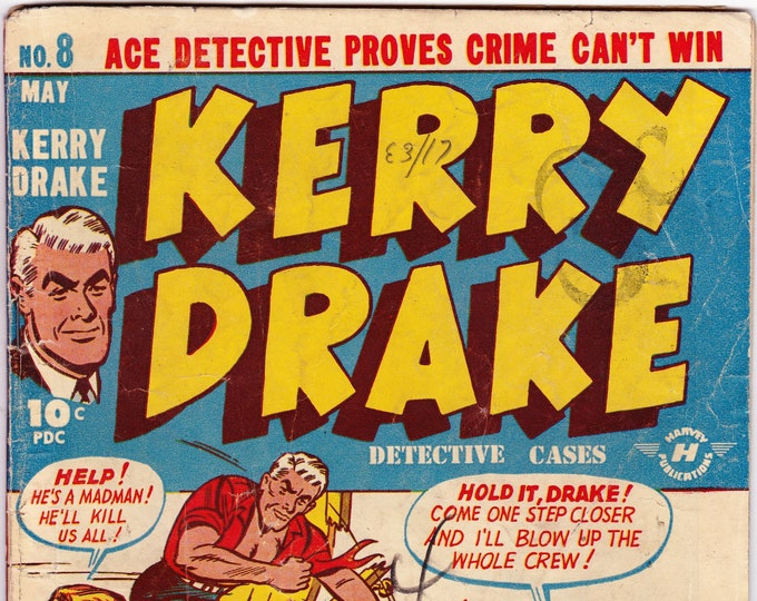 Kerry Drake Detective Cases #8 (1st Series 1944) May 1948   Harvey Publishing  Grade VG