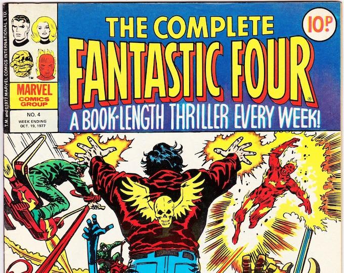 The Complete Fantastic Four #4     October 19, 1977    Marvel UK     Grade VF