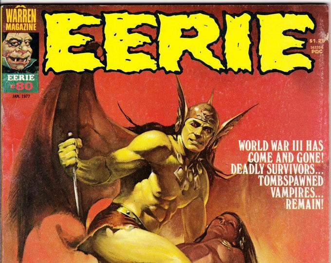 Eerie #80   January 1977     Warren Magazines     Grade F/VF