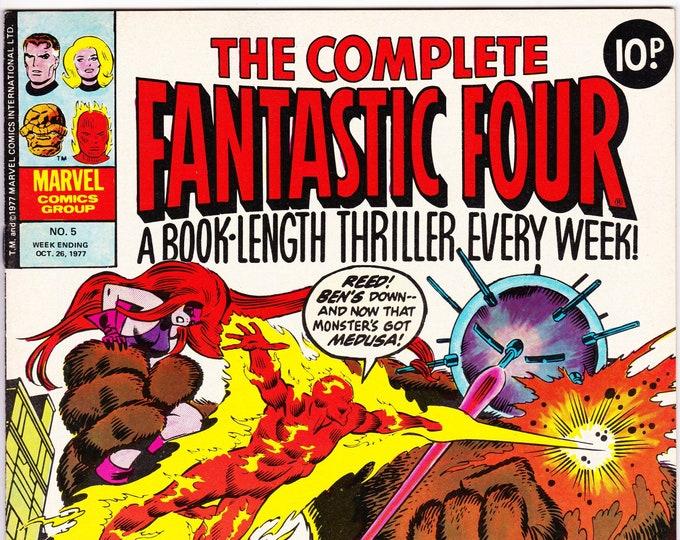 The Complete Fantastic Four #5    October 26, 1977    Marvel UK     Grade VF