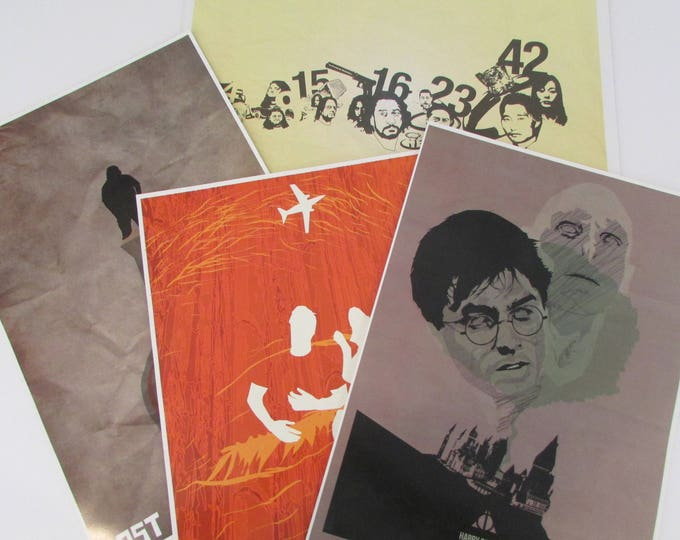 """Fernando Reza (Fro Designs) 1st Edition 11""""x17"""" Giclee Prints Set of Four Signed and Numbered"""