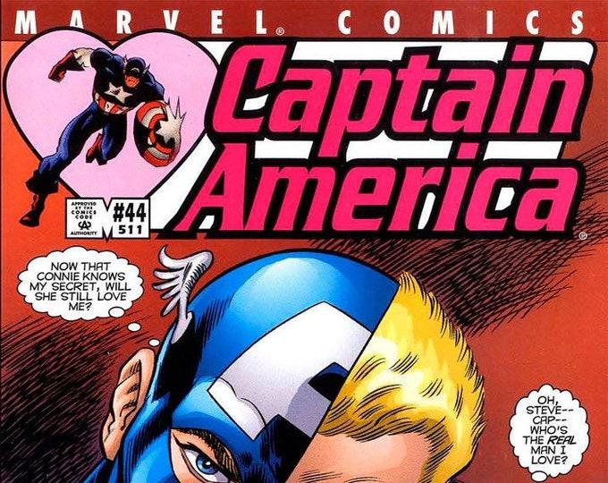 Captain America #44 August 2001  Marvel Comics  Grade NM