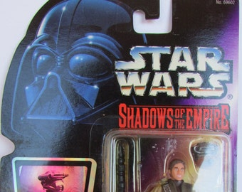 Princess Leia in Boussh Disguise - Star Wars Shadows of the Empire - Purple Card - Rare Action Figure