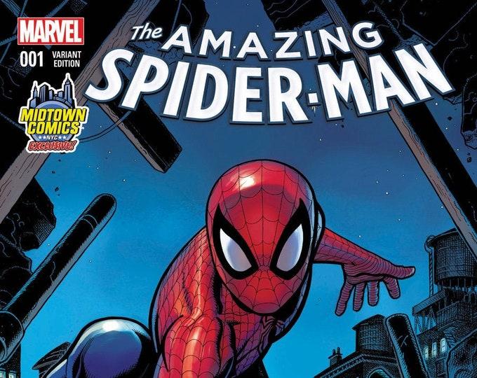 Amazing Spider-Man #1 Midtown Comics Arthur Adams Variant Cover December 2015 Marvel Comics Grade NM