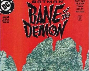 Batman Bane of the Demon #2 - April 1998 Issue - DC Comics - Grade NM
