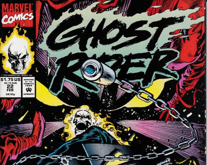 Ghost Rider #22 (1990 2nd Series) February 1992  Marvel Comics Grade VG