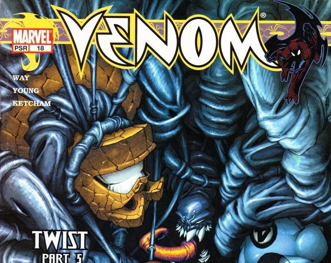 Venom  #18   November 2004 Spider-Man & The Fantastic Four Must Stop Venom! Marvel Comics  Grade NM