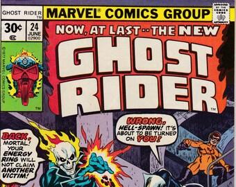 Ghost Rider  #24  June 1977  Marvel Comics  Grade VF