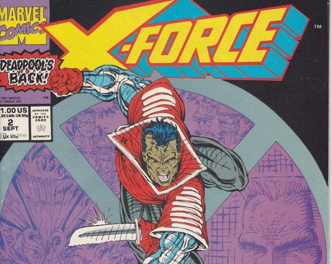 X-Force #2  (Second Appearance of Deadpool)  September 1991   Marvel Comics  Grade NM