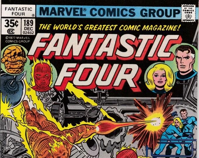 Fantastic Four #189  December 1977  Marvel Comics  Grade NM
