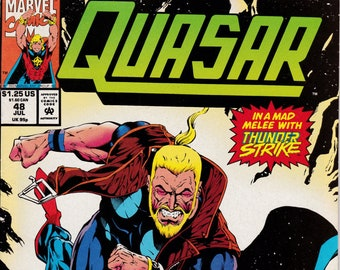 Quasar #48 - July 1993 Issue - Marvel Comics - Grade Fine