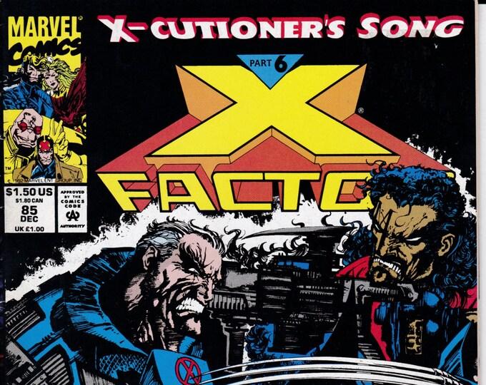 X-Factor #85U   December 1992     Marvel Comics    Grade VF