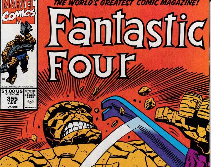 Fantastic Four #355  August 1991  Marvel Comics  Grade NM