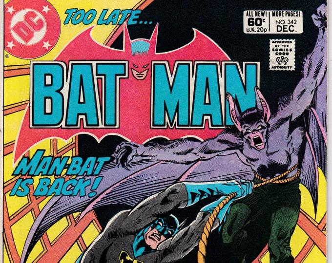 Batman #342   December 1981   DC Comics   Grade NM