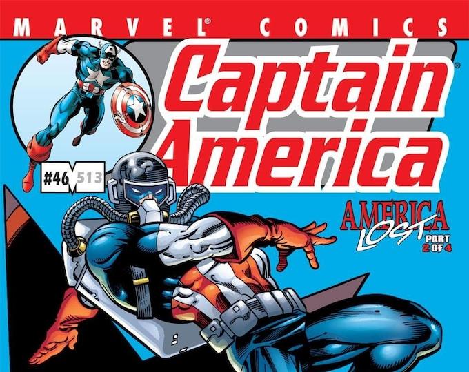 Captain America #46 October 2001  Marvel Comics  Grade NM