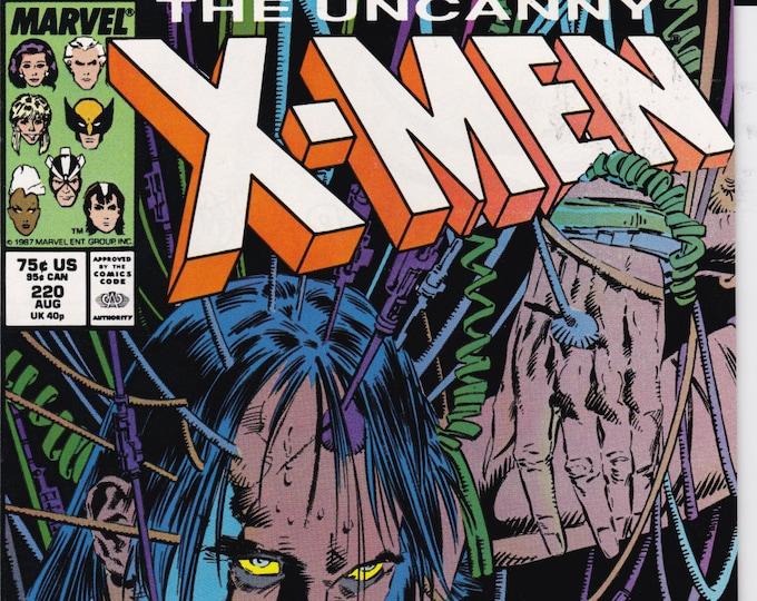 Uncanny X-Men #220 (1st Series 1963) August 1987   Marvel Comics   Grade NM