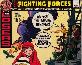 Our Fighting Forces #128 - December 1970 Issue - DC Comics - Grade Fine