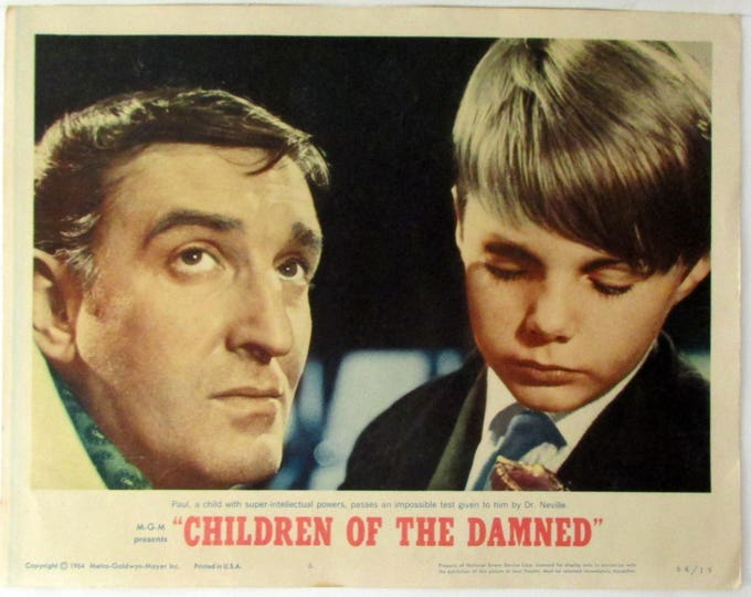 Children of the Damned 1964 Authentic 11 x 14 Original Lobby Card