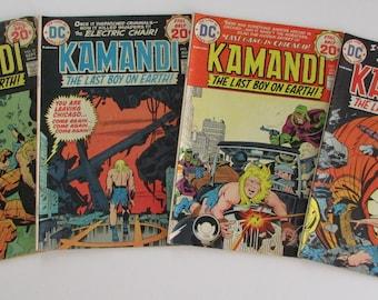 Kamandi #18, 19, 20, 21  DC Comics Grade G to VG 4 for 5 Dollars
