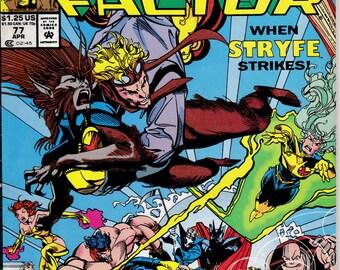 X-Factor #77  April 1992  Marvel Comics  Grade VG/F