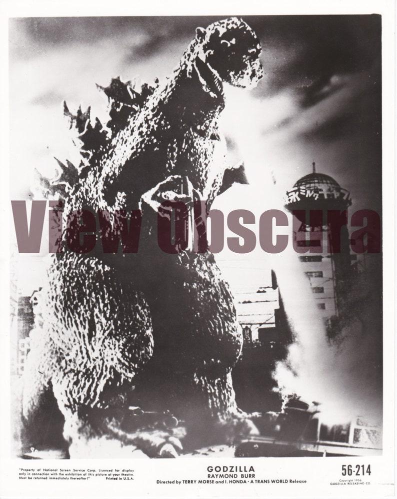 Godzilla 1954 BW Film Movie Retro Vintage WALL FRAMED CANVAS PRINT