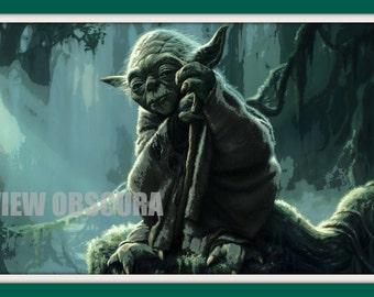 Yoda on Dagobah - Star Wars Episode V: The Empire Strikes Back - Numbered Poster Print