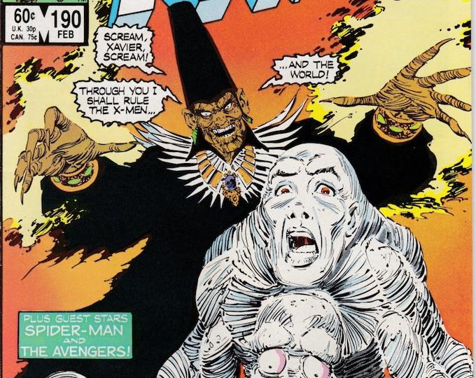 Uncanny X-Men #190    February 1985     Marvel Comics    Grade VF