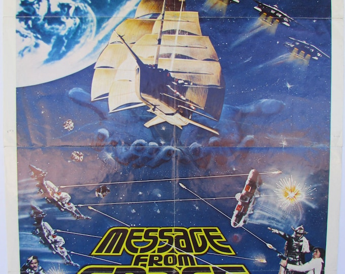 Vintage 1978 'Message from Space' Movie Poster