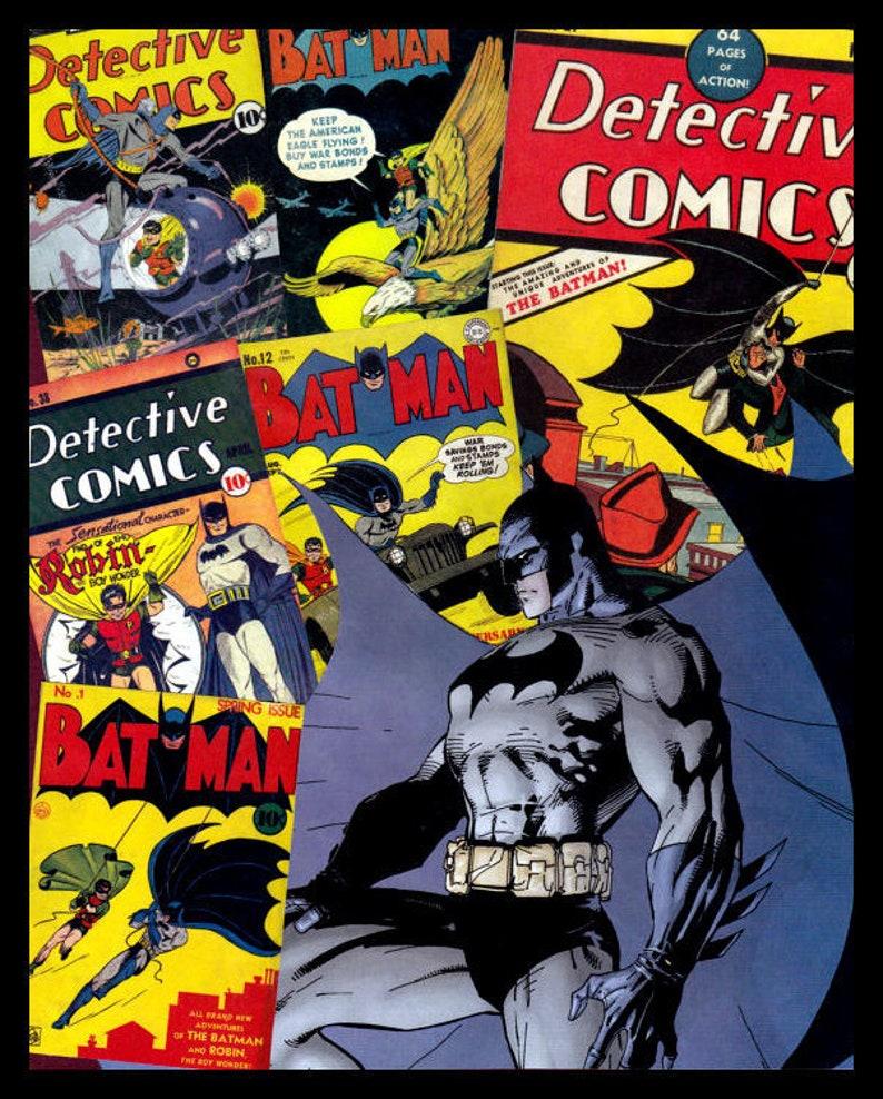Der Detektiv Batman Größte Batman Comic Buch Cover Des Goldenen Zeitalters Original Grafik Plakat Druck