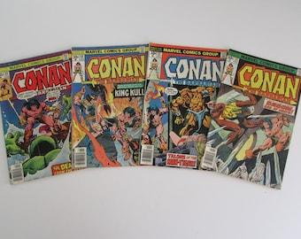 Conan The Barbarian #66, 67, 68, 69 Grade G to VG 4 for 5 Dollars
