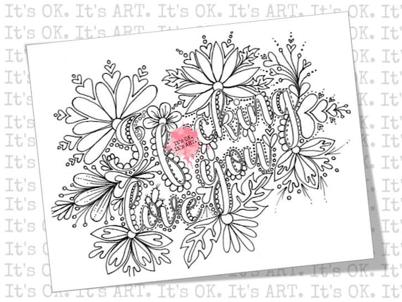Adult Coloring Page Curse Word Coloring Anniversary Gift Etsy