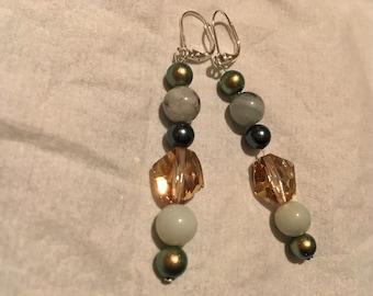Gorgeous Swarovski crystal and beaded earrings